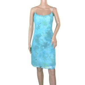 NWT Laundry Cruise Beach Blue Green Dress